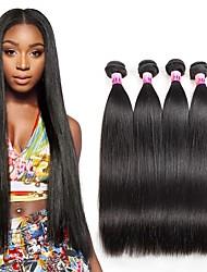 Ciocche a onde capelli veri Brasiliano dritto 1 anno 4 pezzi tesse capelli