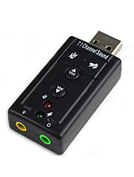 DIEWU Free Drive External USB Sound Card Notebook USB Headset Adapter Converter 7.1