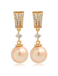 cheap -Women's Pearl Imitation Pearl Pink Pearl - Unique Design Euramerican Fashion Gold Silver Others Earrings For Wedding Birthday Party
