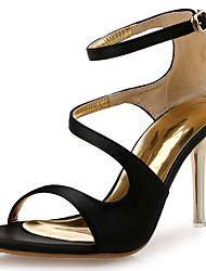 cheap -Women's Sandals Club Shoes Novelty Synthetic Silk Spring Summer Office & Career Party & Evening Dress Stiletto Heel Orange Black White