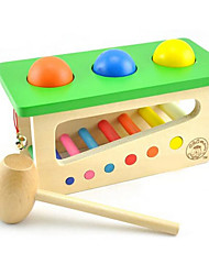 cheap -Hammering / Pounding Toy Building Blocks Balls Baby & Toddler Toy Toys Education Wooden Wood Kid's Children's Pieces