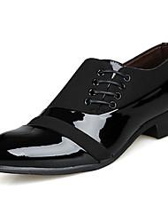 Недорогие -Муж. обувь Полиуретан Весна Формальная обувь Туфли на шнуровке Черный / Платья