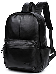 cheap -Men's Bags Cowhide Backpack Smooth Black