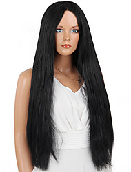MAYSU Enchanting   Black Long Hair  Comfortable Front lace  Synthetic Wigs  Hot sale