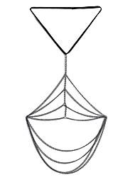 Lureme Sexy Bikini Thigh Leg Tassel Chains Multilayer Crossover Harness Garter Body Jewelry