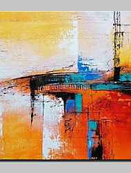 cheap -Hand-Painted Abstract Square, Abstract Modern/Contemporary Canvas Oil Painting Home Decoration One Panel