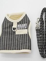 Harness Leash Adjustable Stripe British Fabric