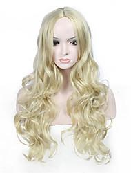 Ženy Dlouhý Blonďatá Vlnité Umělé vlasy Bez krytky Přírodní paruka paruky