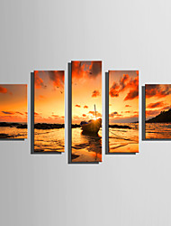 cheap -Canvas Print Five Panels Canvas Vertical Print Wall Decor Home Decoration