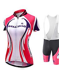 Maglia con salopette corta da ciclismo Per donna Manica corta Bicicletta Maglietta/Maglia Abbigliamento a compressione