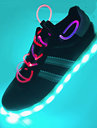 Unisex Athletic Shoes Spring Summer Fall Winter Comfort Novelty Light Up Shoes PU Outdoor Casual Athletic Flat Heel Lace-up LED Black