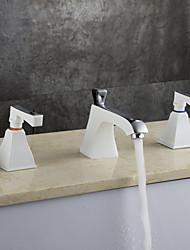 abordables -Moderno Arte Decorativa/Retro Modern Muy Difundido Ducha lluvia Separado Con Termostato Válvula Latón Dos asas de tres agujeros Cromo ,