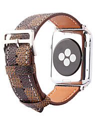 economico -Banda di orologi per la vigilanza della mela serie 1 2 braccialetto della cinghia di ricambio del cuoio genuino di 38mm 42mm