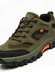 Hiking Shoes Men's Athletic Shoes Comfort PU Spring Fall Outdoor  Lace-up Flat Heel Khaki Army Green Dark Grey Under 1in