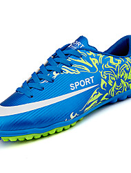 Soccer Shoes Men's Athletic Shoes Comfort PU Summer Outdoor  Flat Heel Blue Red Orange Black Under 1in