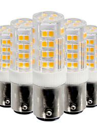 cheap -YWXLight® 5Pcs BA15D 5W 52LED 2835 SMD 400-500 Lm Cool White Warm White  LED Lamp AC 220V / AC 110V