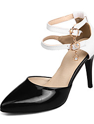 Women's Sandals Spring Summer Club Shoes D'Orsay & Two-Piece Leatherette Wedding Party & Evening Dress Chunky Heel Stiletto HeelBuckle