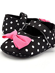 cheap -Children's Baby Shoes Fabric Summer Fall First Walkers Loafers & Slip-Ons Bowknot Polka Dot for Casual Party & Evening Dress Black