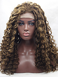 cheap -Synthetic Lace Front Wig Curly Synthetic Hair Natural Hairline Blonde / Brown Wig Women's Medium Length / Long Lace Front Wig