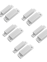 cheap -5PCS/Lot Magnetic Contact Reed Switch Wired Door Window Open Alarm Sensor Switches Normal Closed