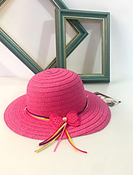cheap -Women's Straw Sun Hat,Cute Casual Solid Spring/Fall Summer Beige Yellow Fuchsia Light Blue Lavender