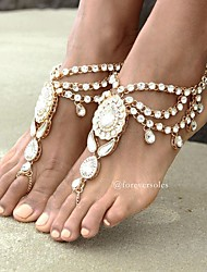 cheap -Flower Barefoot Sandals - Women's Gold / Silver Bohemian / Fashion Anklet For Daily / Casual