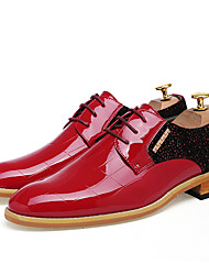 cheap -Men's Shoes Cowhide Spring / Summer Novelty Wedding Shoes Black / Red