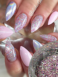 cheap -1 pcs Sequins / Glitter Powder / Nail Glitter Elegant & Luxurious / Sparkle & Shine Nail Art Design