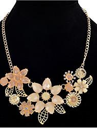 Femme Fille Pendentif de collier Colliers chaînes Bijoux Forme de Fleur Résine AlliageBasique Original Pendant Amitié euroaméricains Turc