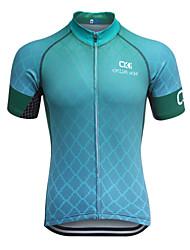 お買い得  -男性用 半袖 サイクリングジャージー 幾何学的な バイク 速乾性, 人間工学デザイン, 高通気性, モイスチャーコントロール, 反射性ストリップ