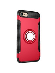 For iPhone 7 Plus 7 Case Cover Shockproof with Stand Ring Holder Back Cover Case Armor Hard PC for iPhone 6s Plus 6 5 5S SE