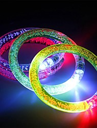 cheap -3PCS Multicolor LED Flashing Bracelet Light Up Acrylic Bangle for Party Bar Halloween Chiristmas Ramdon Color