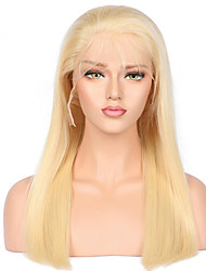 cheap -Remy Human Hair Full Lace Wig Brazilian Hair Straight 130% Density 100% Hand Tied African American Wig Natural Hairline Medium Long