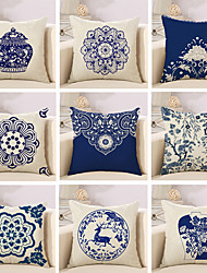cheap -10 Design Blue And White Porcelain Style Printing Pillow Cover Classic Square Pillow Case Home Decor Cushion Cover