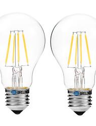 preiswerte -4W E27 LED Glühlampen A60(A19) 4 COB 300 lm Warmes Weiß Weiß 3000-3500   6000-6500 K V
