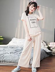 Vestito da sera del vestito da sera delle donne semplice letetrs inglese semplice fresco patten insieme pigiami
