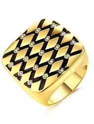 Men's Women's Ring AAA Cubic Zirconia Basic Circular Unique Design Rhinestone Natural Geometric Circle Friendship Statement Jewelry