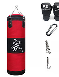 Punching Bag Set with Boxing Gloves Hangers Removable Chain Strap Sanda Boxing Taekwondo Muay Thai KarateDurable Boxing Strength Training