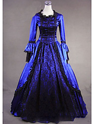 cheap -Victorian Gothic Medieval Costume Women's Dress Party Costume Masquerade Vintage Cosplay Other Satin Long Sleeves Cap Floor Length