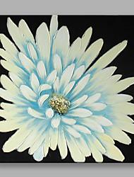 Pintados à mão Floral/BotânicoContemprâneo Flor 1 Painel Tela Pintura a Óleo For Decoração para casa