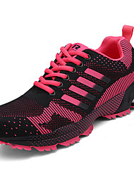 Femme Chaussures d'Athlétisme Confort Polyuréthane Printemps Automne Décontracté Talon Plat Violet Rouge Plat