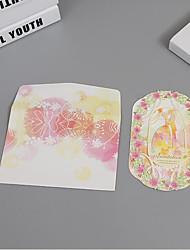 Plis Roulés Invitations de mariage Cartes d'invitation Thème féerique Style des mariés Style floral Papier cartonné 100% pulpe vierge