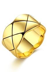 billige -Dame Kvadratisk Zirconium Crossover Ring - Zirkonium, Plastik, Rhinsten Venner Personaliseret, Geometrisk, Unikt design 7 / 8 / 9 Guld / Sølv Til Speciel Lejlighed / Jubilæum / Fødselsdag / Legering
