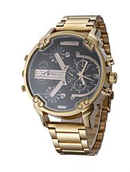 JUBAOLI Pánské Sportovní hodinky Módní hodinky Náramkové hodinky čínština Křemenný Kalendář Hodinky s dvojitým časem Velký ciferník Nerez