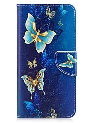 economico -Per iphone 7plus 7 telefono caso di cuoio PU materiale dorato materiale farfalla verniciato telefono 6s più 6plus 6s 6 se 5s 5