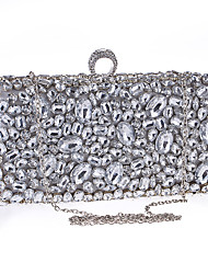 Women Bags All Seasons Polyester Evening Bag with Rhinestone for Wedding Event/Party Business Stage Formal Date Party & Evening Black