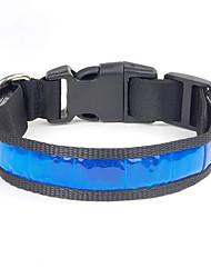 preiswerte -Hund Halsbänder Wasserdicht Reflektierend Tragbar Einstellbar Solide Nylon Weiß Gelb Rot Blau