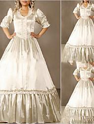 abordables -Vintage Medieval Victoriano Gótico Disfraz Mujer Vestidos Baile de Máscaras Ropa de Fiesta Cosecha Cosplay Other Satín Media Manga