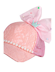 Girl's Cap Big Bow Beading Ornament Sweet Lace Mash Hat