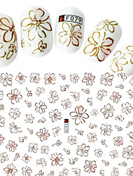 cheap -1pcs Fashion Beautiful Decoration Nail Art DIY Beauty Flower 3D Stickers Beautiful Flower Design F079